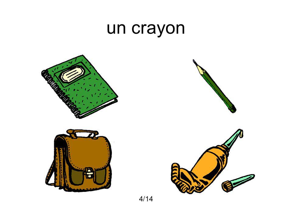 un crayon 4/14