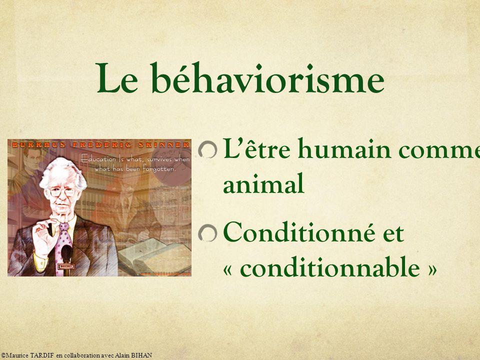 Le béhaviorisme : origines et fondateurs Le béhaviorisme vient de la tradition anglo-saxonne de la philosophie empiriste.