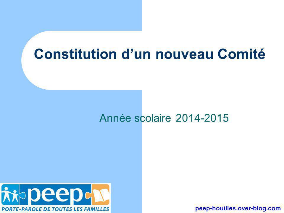Constitution d'un nouveau Comité Année scolaire 2014-2015 peep-houilles.over-blog.com