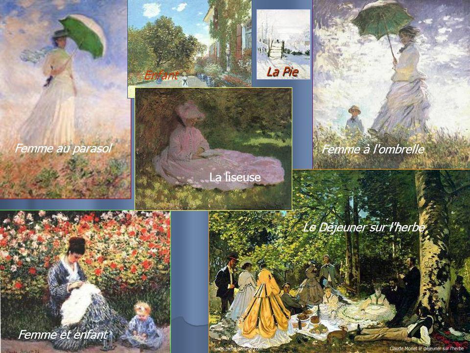 Femme au parasol Enfant Femme et enfant La Pie Femme à l ombrelle Le Déjeuner sur l herbe La liseuse