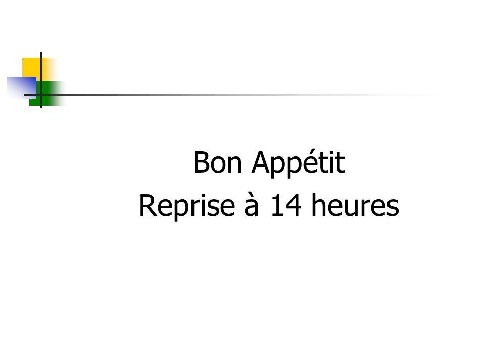 Bon Appétit Reprise à 14 heures