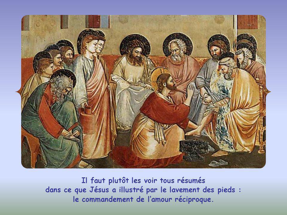 Dans l'Evangile de Jean, « mes paroles » sont souvent synonymes de « mes commandements ».