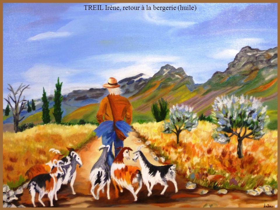 TREIL Irène, retour à la bergerie (huile)