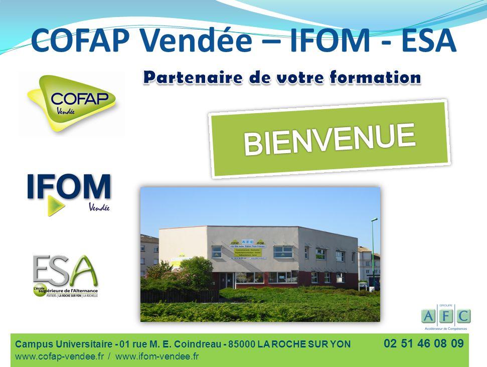 COFAP Vendée – IFOM - ESA Campus Universitaire - 01 rue M.