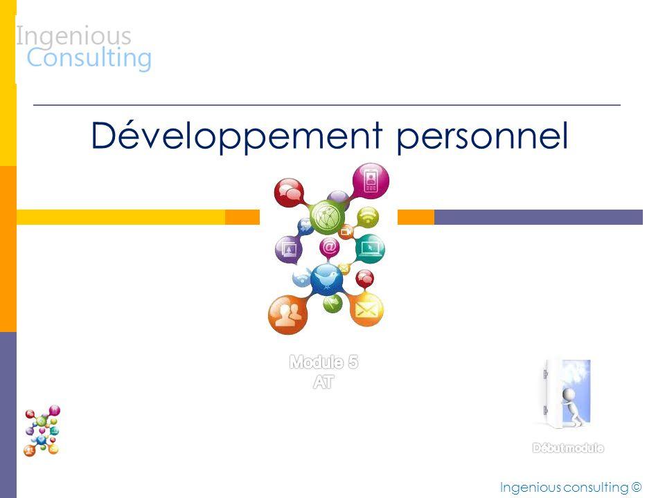 Développement personnel Ingenious consulting ©