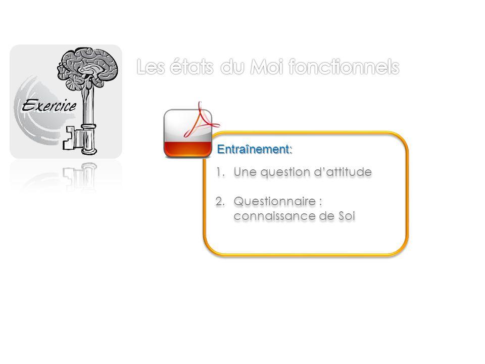1.Une question d'attitude 2.Questionnaire : connaissance de Soi 1.Une question d'attitude 2.Questionnaire : connaissance de Soi Entraînement: