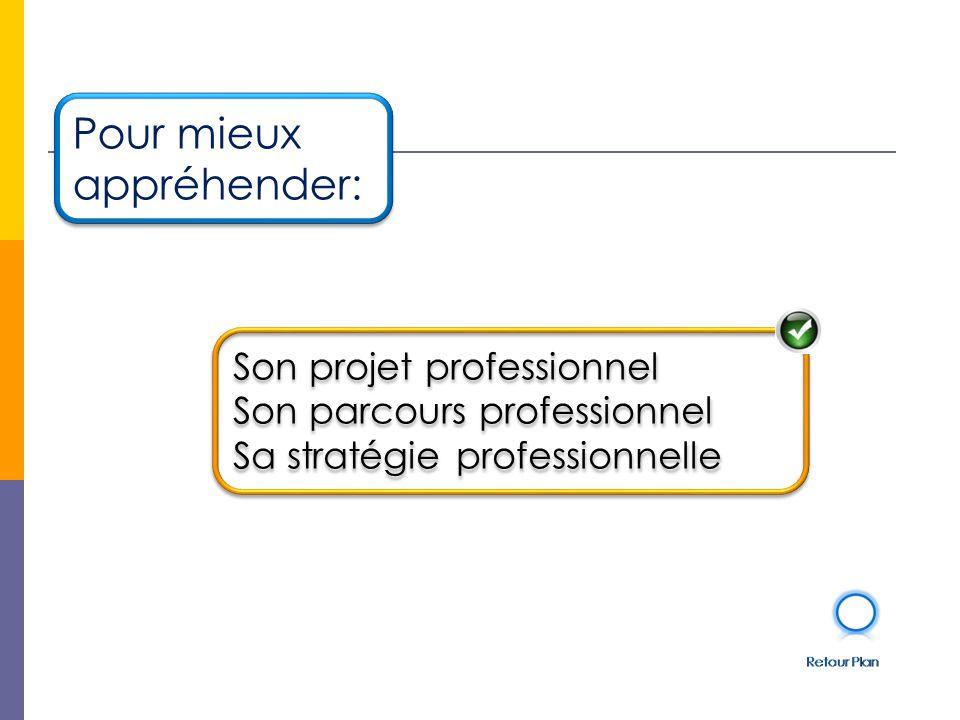 Son projet professionnel Son parcours professionnel Sa stratégie professionnelle Son projet professionnel Son parcours professionnel Sa stratégie professionnelle Pour mieux appréhender: