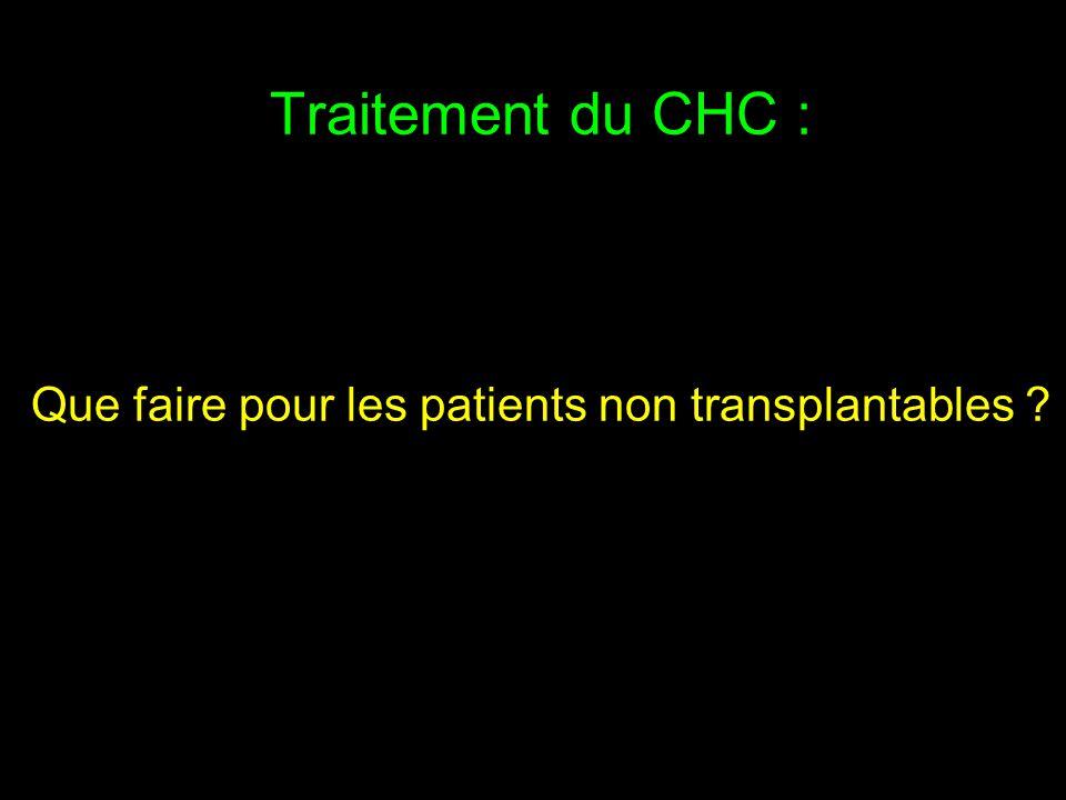Traitement du CHC : Que faire pour les patients non transplantables ?