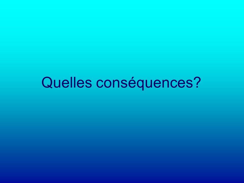 Quelles conséquences?