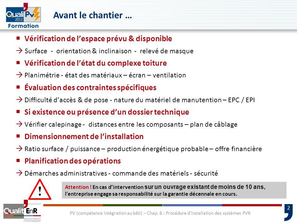 33 PV (compétence intégration au bâti) – Chap.