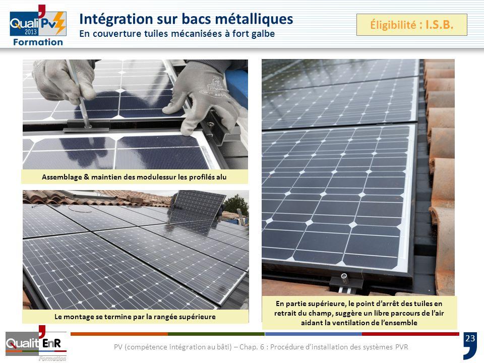 23 PV (compétence intégration au bâti) – Chap.