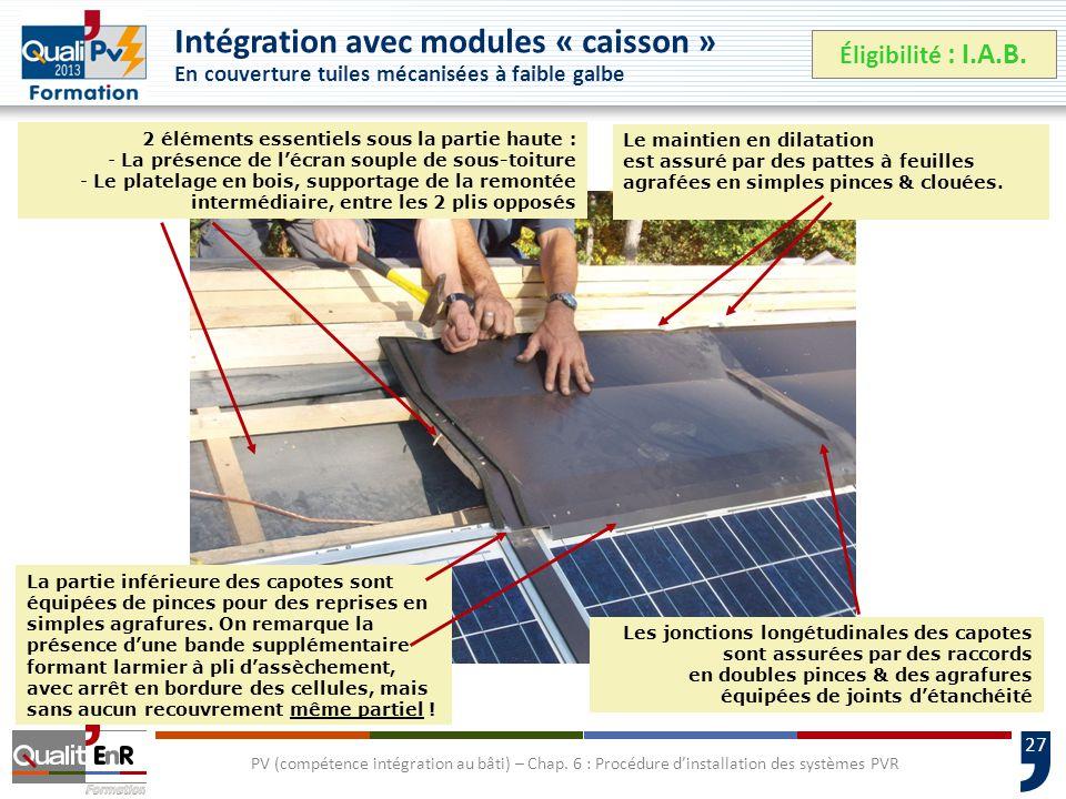 27 PV (compétence intégration au bâti) – Chap.