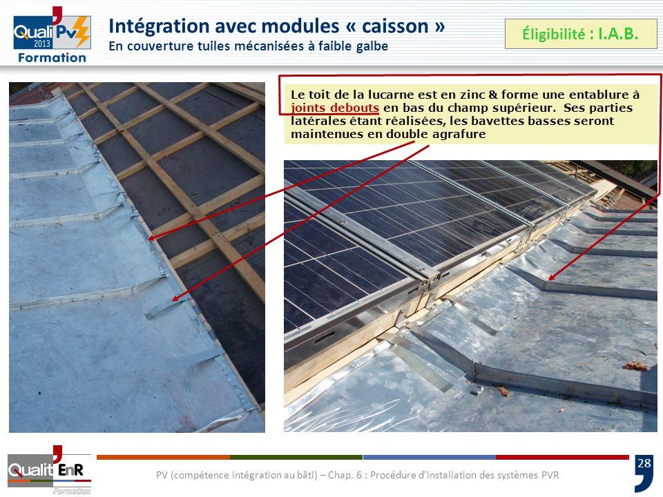 28 PV (compétence intégration au bâti) – Chap.