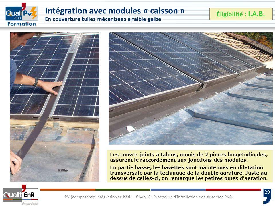 29 PV (compétence intégration au bâti) – Chap.