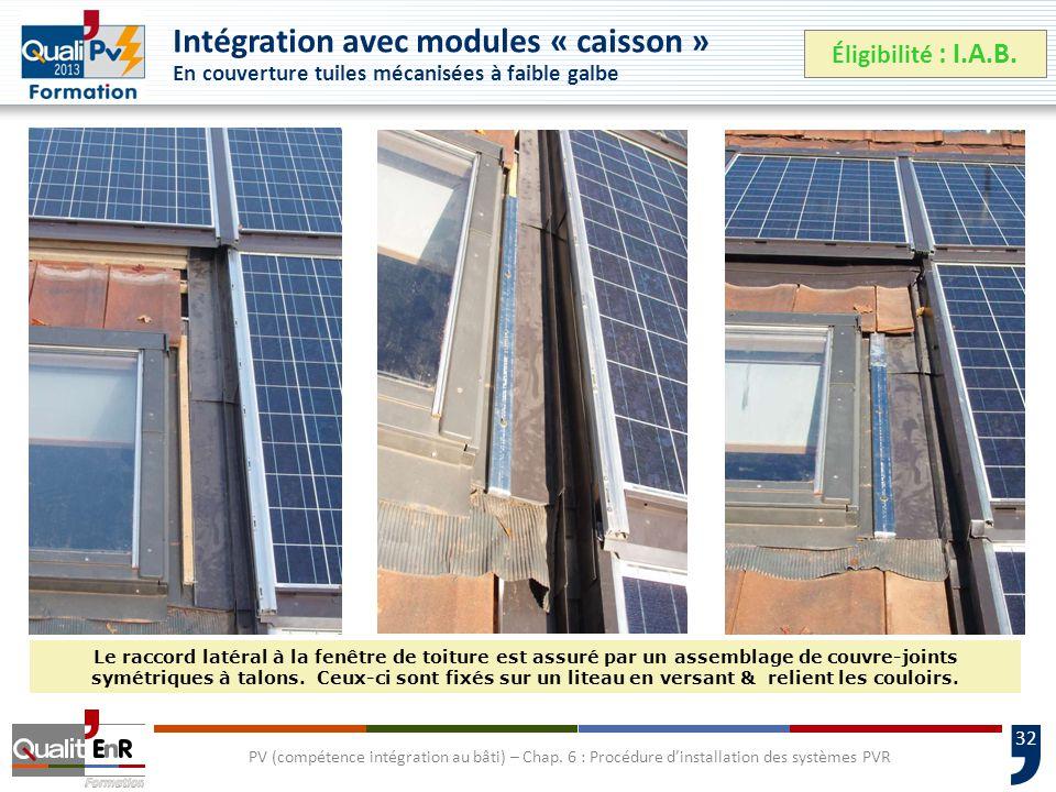32 PV (compétence intégration au bâti) – Chap.