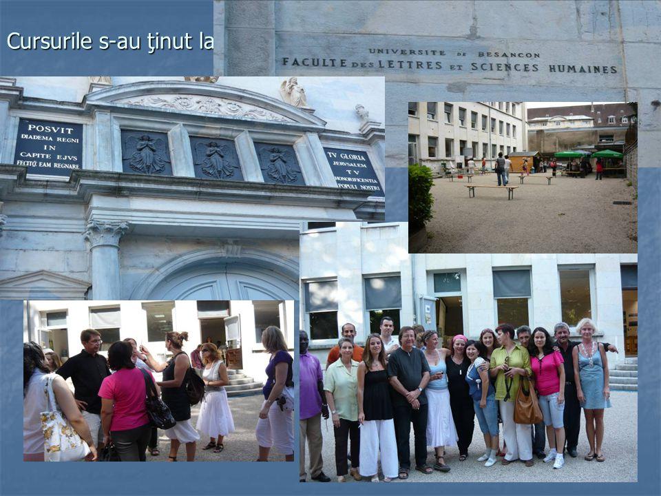 Stagiul a cuprins: 3 module: - Decouvrir la France d'aujourd'hui – 12h - Se perfectionner a l'ecrit – 12h - Se perfectionner a l'oral – 12h Cel puţin 4 forumuri: - Decouvrir de la ville de Besancon – 1h30min; - TV5 Monde – 1h30min; - Un an en France, la vie quotidienne des Francais – 3h; - L'accueil des eleves non francophones en France – 1h30min.