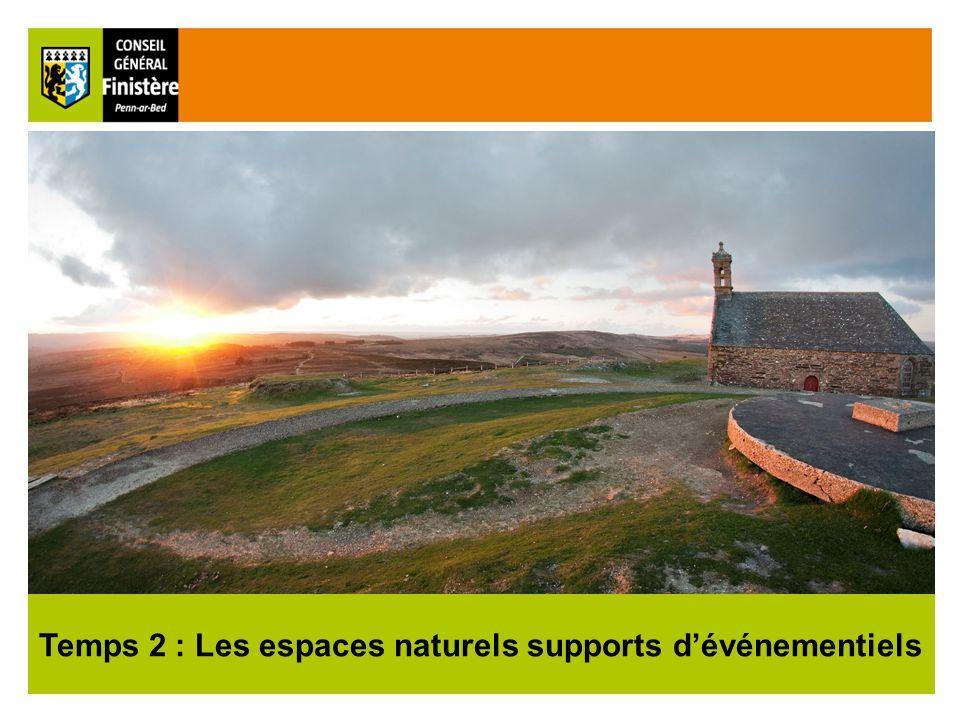16 Temps 2 : Les espaces naturels supports d'événementiels