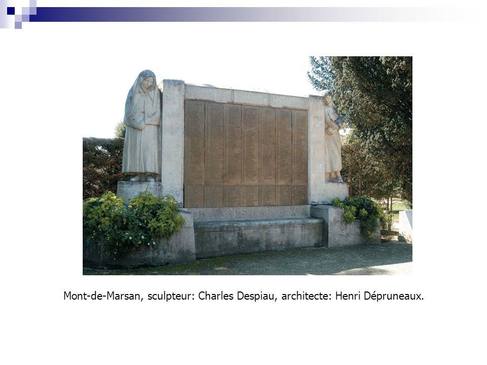 Mont-de-Marsan, sculpteur: Charles Despiau, architecte: Henri Dépruneaux.
