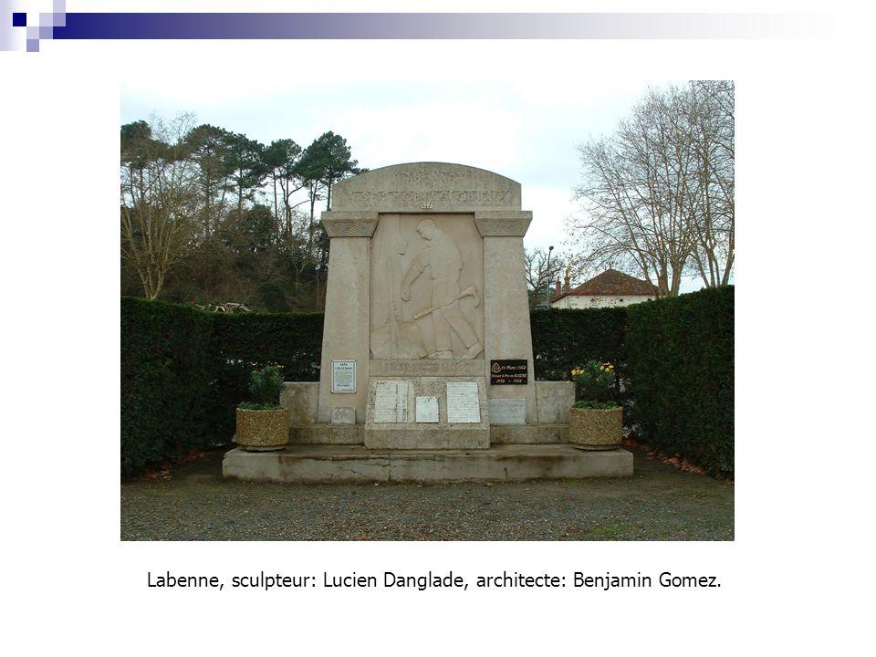 Labenne, sculpteur: Lucien Danglade, architecte: Benjamin Gomez.