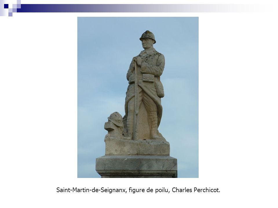 Saint-Martin-de-Seignanx, figure de poilu, Charles Perchicot.