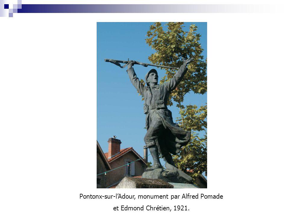 Pontonx-sur-l'Adour, monument par Alfred Pomade et Edmond Chrétien, 1921.