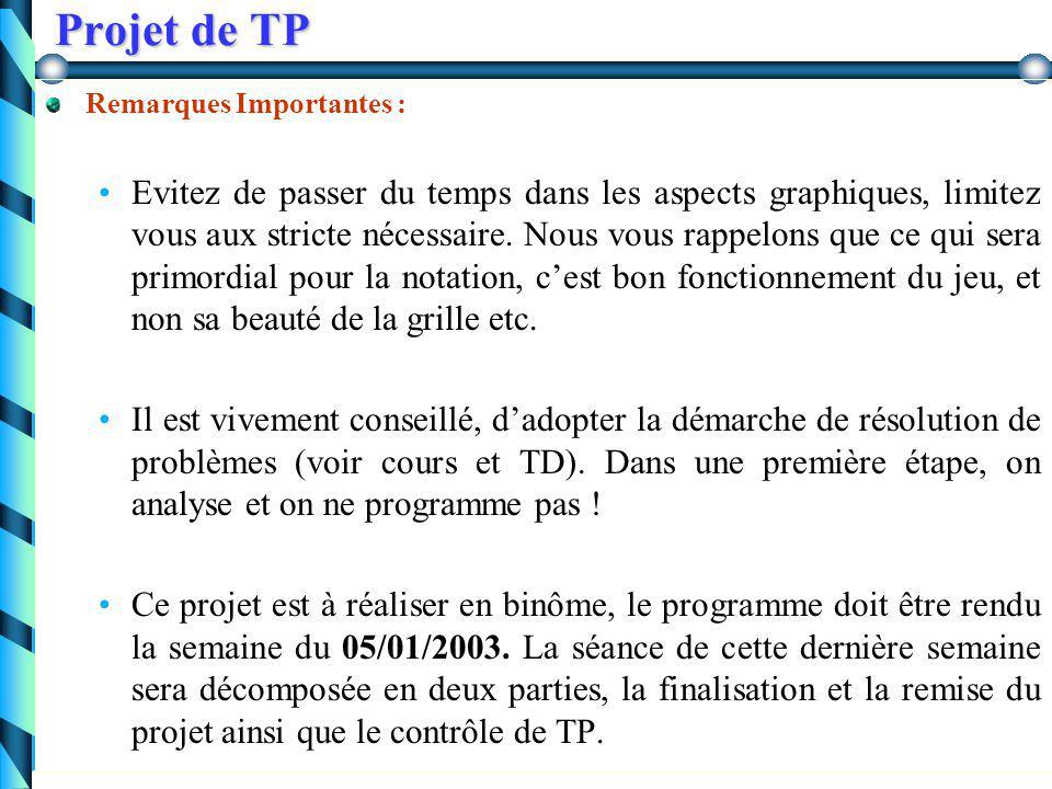 Projet de TP Jeu du Labyrinthe On se propose de programmer un jeu (interactif) qui doit permettre tout d'abord de créer un labyrinthe graphiquement, p