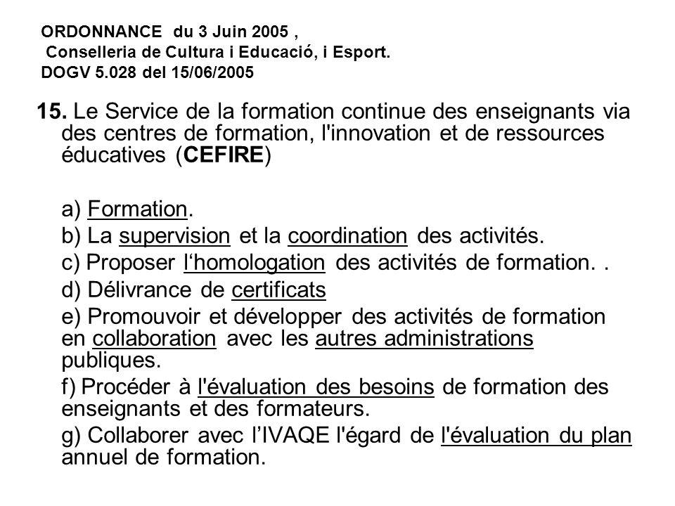ORDONNANCE du 3 Juin 2005, Conselleria de Cultura i Educació, i Esport.