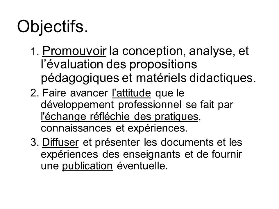 Objectifs. 1.