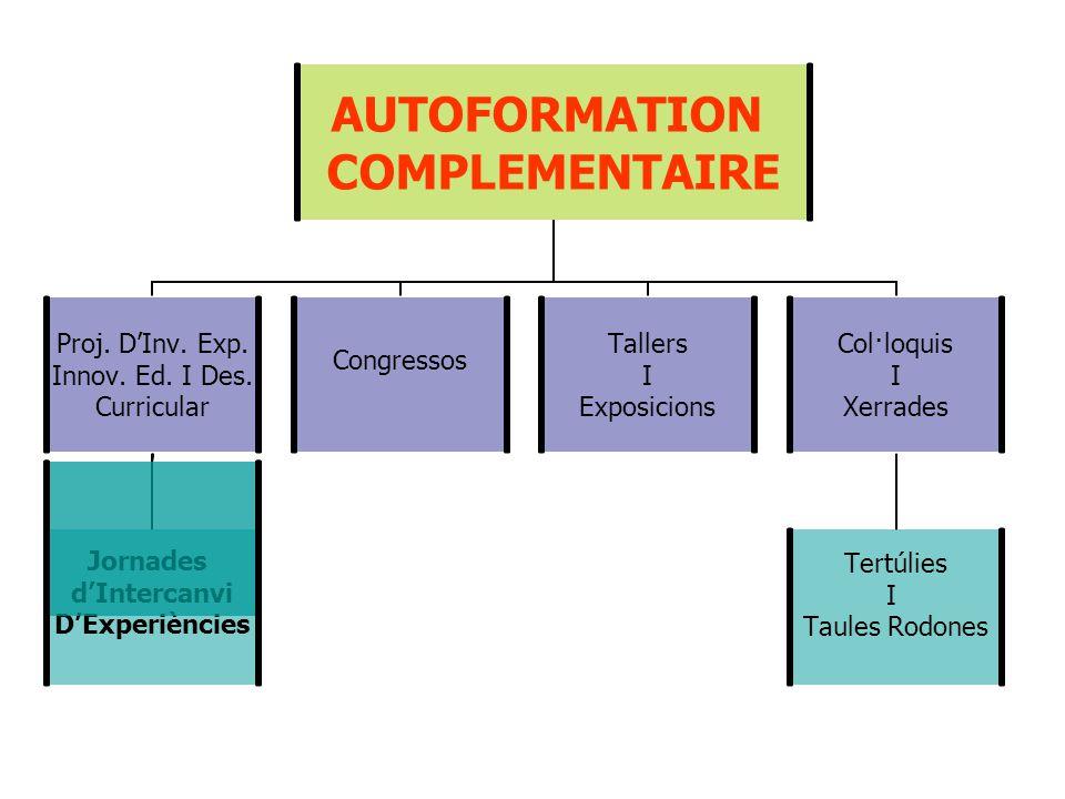 AUTOFORMATION COMPLEMENTAIRE Proj. D'Inv. Exp. Innov.