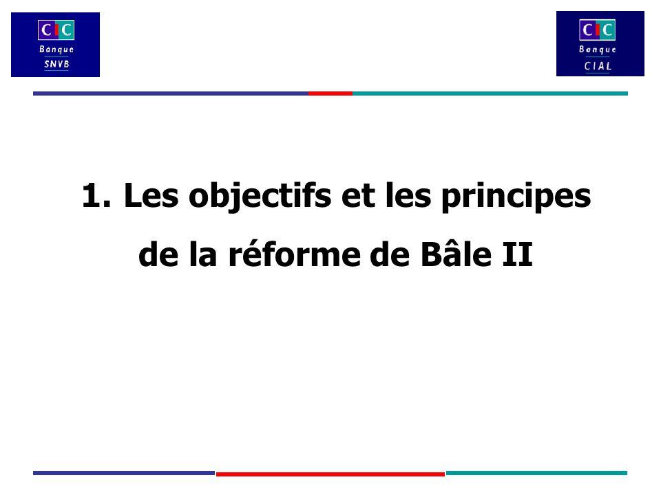 1. Les objectifs et les principes de la réforme de Bâle II