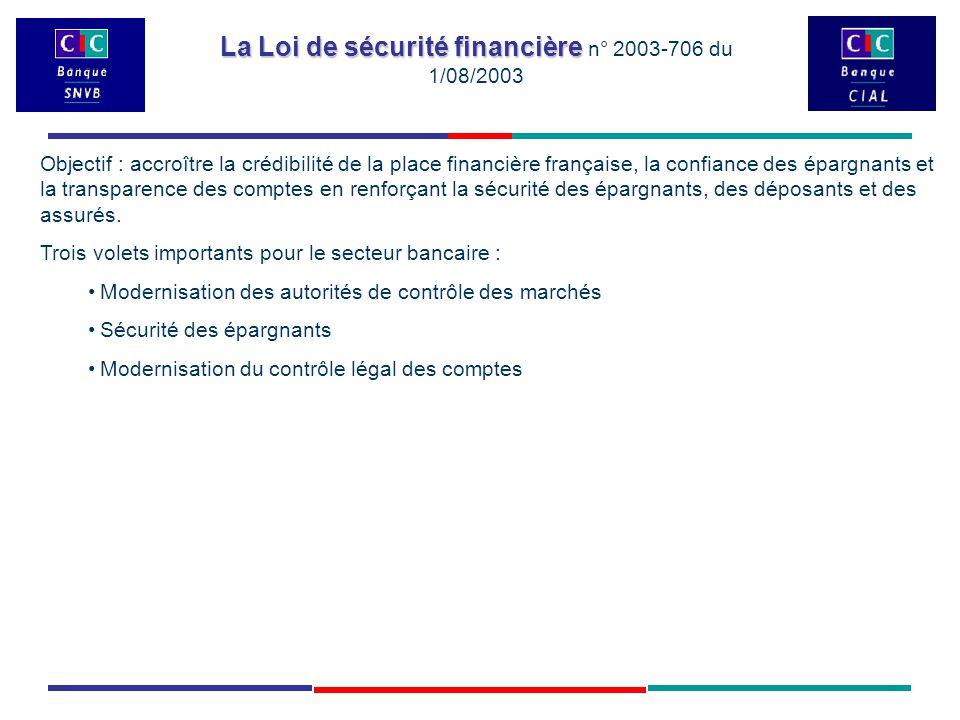 La Loi de sécurité financière La Loi de sécurité financière n° 2003-706 du 1/08/2003 On trouve également des notations intermédiaires, en effet les notes peuvent être affublées d un + ou - ou encore d un 1 ou 2 , etc.
