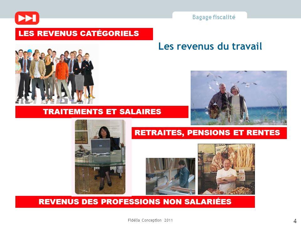 Bagage fiscalité Fidélia Conception 2011 Le foyer fiscal en 2010 c'est… Jeanne et Paul se sont mariés le 30/6/2010 Jeanne a un salaire de 30 000€ Paul un salaire de 24 000€ 3 déclarations Du 1 er au 30 juin 2010 Jeanne 15 000 – 10% = 13 500€ - impôt : 423€ Paul 12 000 – 10% = 10 800€ - impôt : 0€ Déclaration commune du 1/7/ au 31/12/2010 13 500 + 10 800 = 24 300€ Impôt : 711€ Impôt total pour l'année 2010 423 + 711 = 1 134€ Le foyer fiscal en 2011 ce sera… Option 2 déclarations séparées Jeanne 30 000 – 10% = 27 000€ - impôt : 2 616€ Paul 24 000 – 10% = 21 600€ - impôt : 1 705€ Impôt total pour l'année 2010 2 616€ + 1 705€ = 4 321€ Option une déclaration commune sur toute l'année 54 000 (30 000 + 24 000) – 10% = 48 600€ Impôt : 4 165€ 15