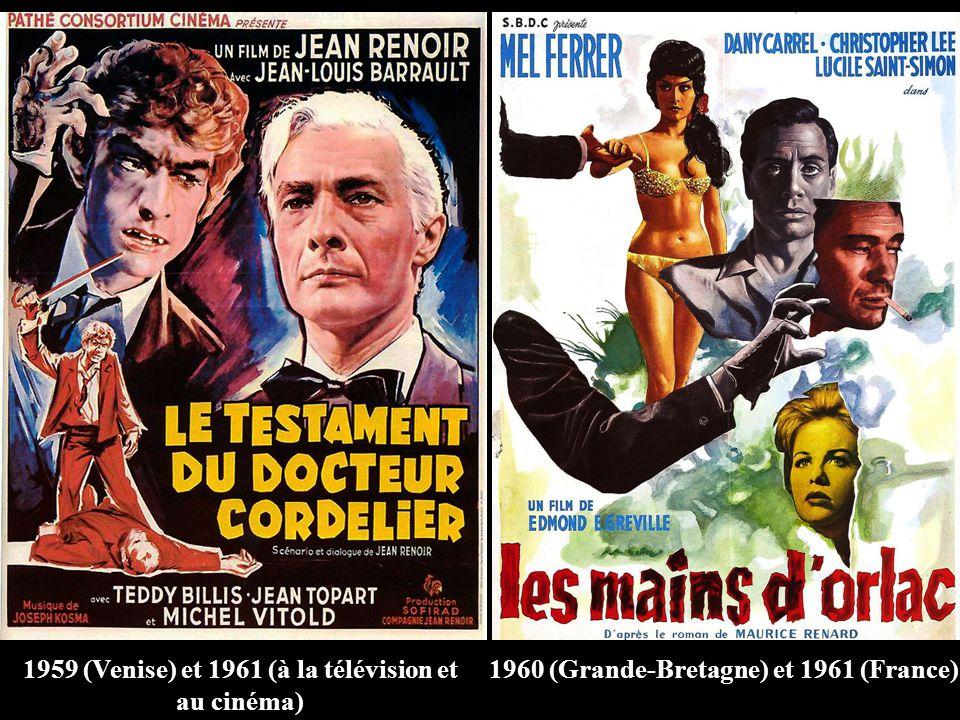 1959 (Venise) et 1961 (à la télévision et au cinéma) 1960 (Grande-Bretagne) et 1961 (France)