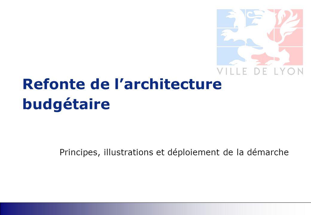 Refonte de l'architecture budgétaire Principes, illustrations et déploiement de la démarche