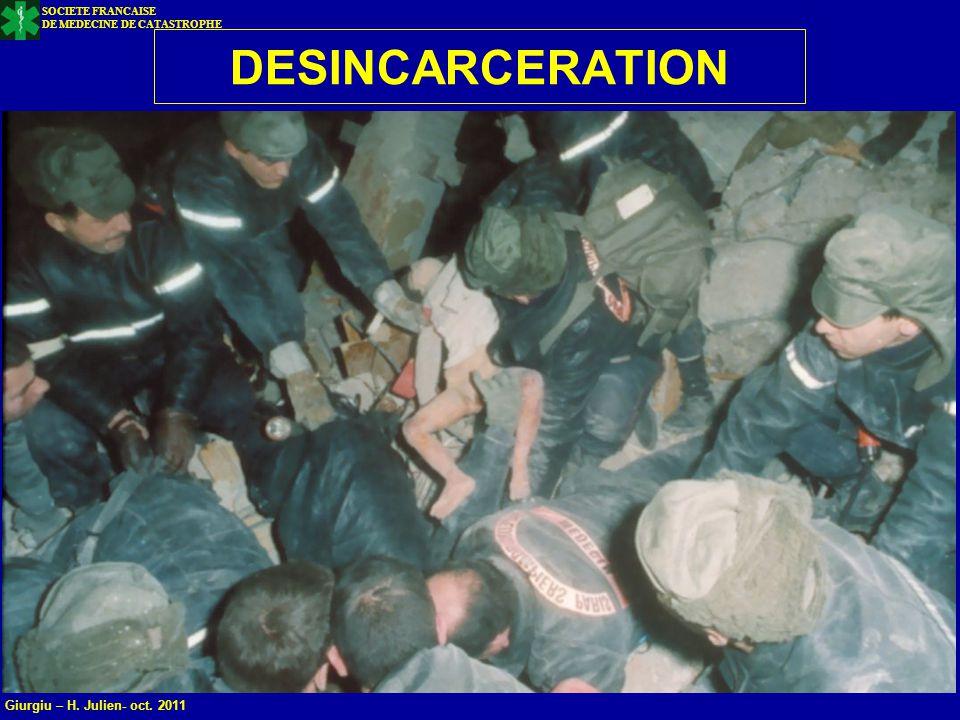 23 DESINCARCERATION SOCIETE FRANCAISE DE MEDECINE DE CATASTROPHE Giurgiu – H. Julien- oct. 2011