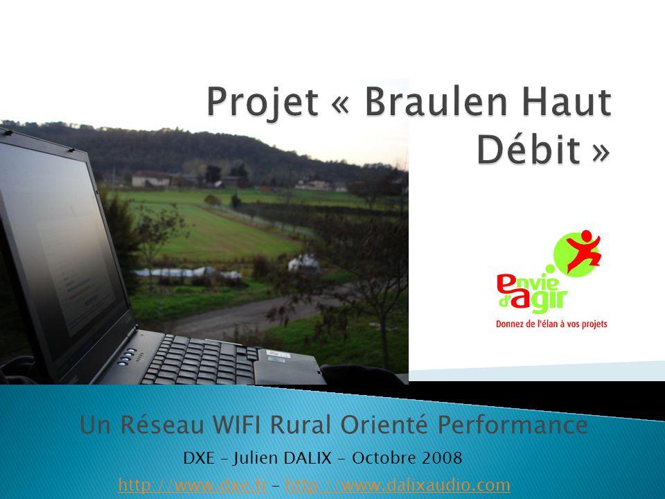 Un Réseau WIFI Rural Orienté Performance http://www.dxe.frhttp://www.dxe.fr – http://www.dalixaudio.comhttp://www.dalixaudio.com DXE – Julien DALIX -