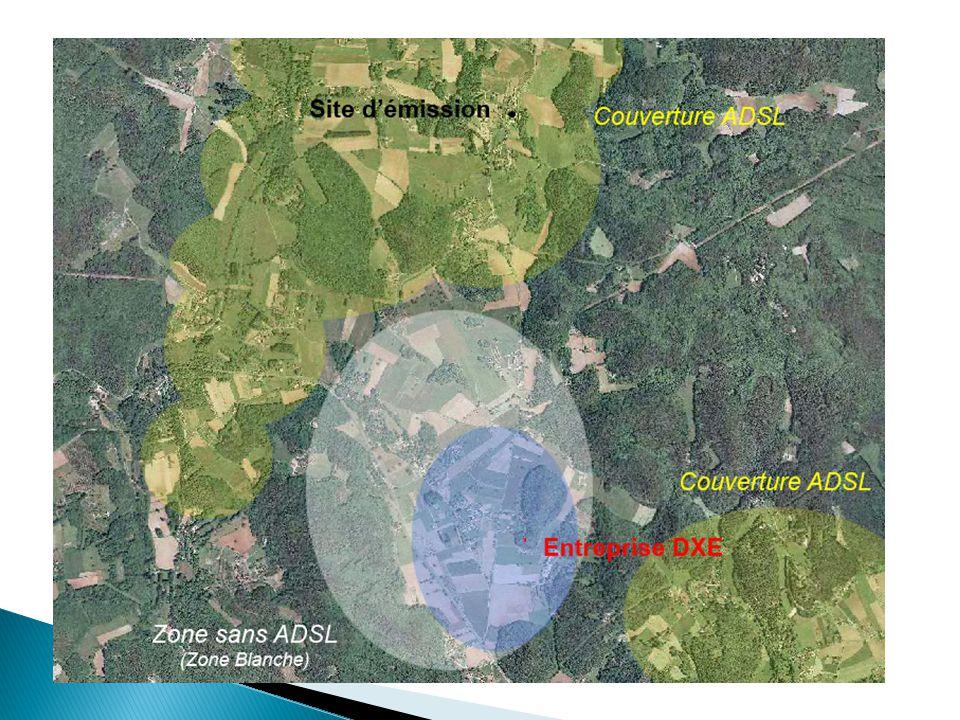La Problématique des Zones Blanches Les Zones dites « Blanches » se caractérisent par l'absence de couverture Internet haut débit par la technologie A