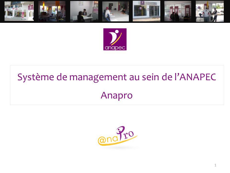1 Système de management au sein de l'ANAPEC Anapro