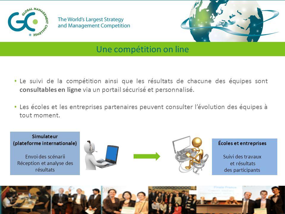 Le suivi de la compétition ainsi que les résultats de chacune des équipes sont consultables en ligne via un portail sécurisé et personnalisé.