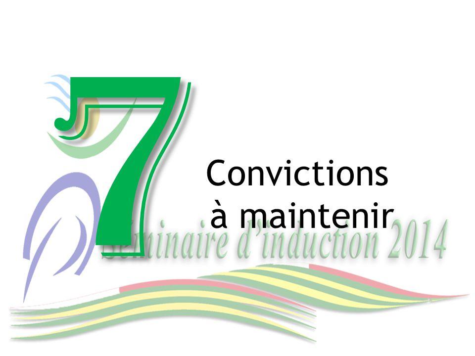 Convictions à maintenir 7