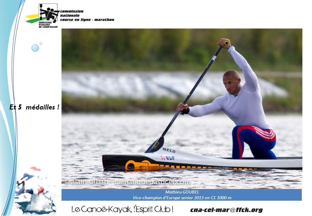 Mathieu GOUBEL Vice-champion d'Europe senior 2013 en C1 1000 m Et 5 médailles !