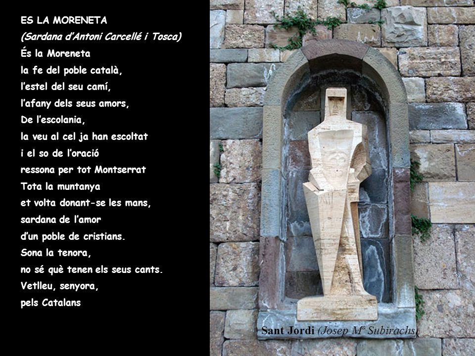 La Vierge de Montserrat. Depuis que selon la légende l'on trouva une image de la Mère de Dieu dans la sainte grotte, depuis la fondation du monastère,