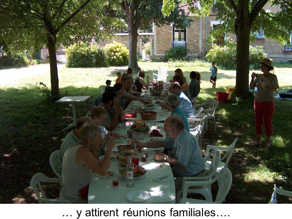 … y attirent réunions familiales….
