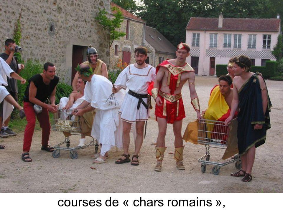 courses de « chars romains »,