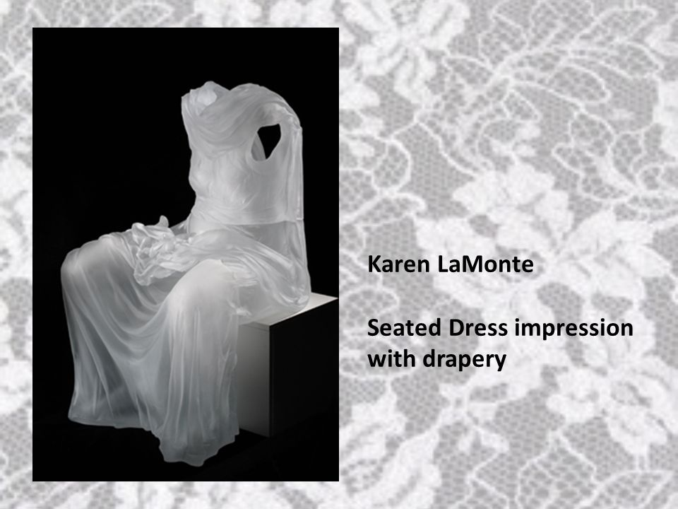Karen LaMonte Seated Dress impression with drapery