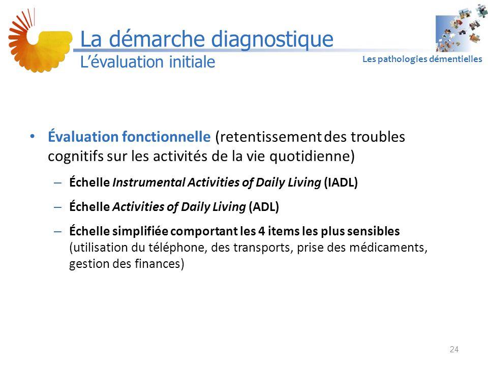 A1 Les pathologies démentielles Évaluation fonctionnelle (retentissement des troubles cognitifs sur les activités de la vie quotidienne) – Échelle Ins