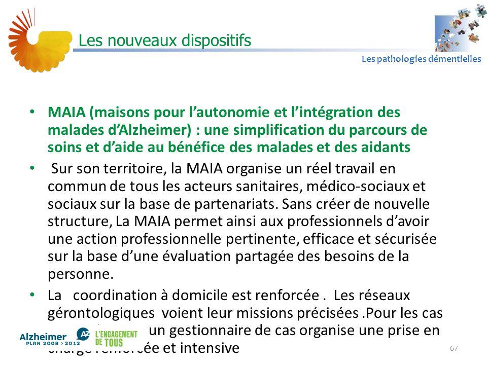 A1 Les pathologies démentielles Les nouveaux dispositifs MAIA (maisons pour l'autonomie et l'intégration des malades d'Alzheimer) : une simplification