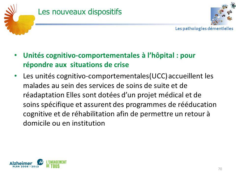 A1 Les pathologies démentielles Les nouveaux dispositifs Unités cognitivo-comportementales à l'hôpital : pour répondre aux situations de crise Les uni