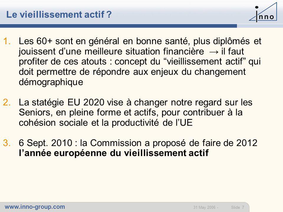 www.inno-group.com Slide 831 May 2006 - La fin de la retraite ?