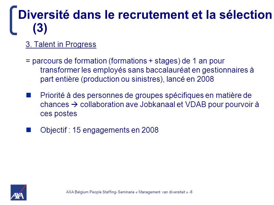AXA Belgium People Staffing- Seminarie « Management van diversiteit » -9 4.